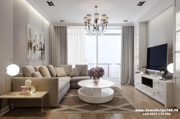 nội thất phòng khách chung cư vinhomes