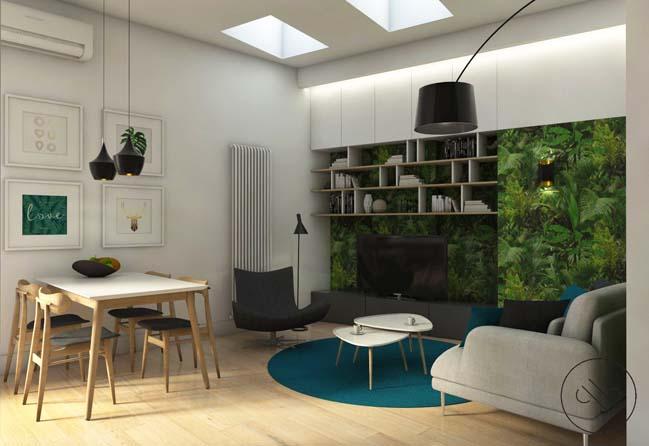 Kết hợp phòng ăn với phòng khách tiết kiệm không gian