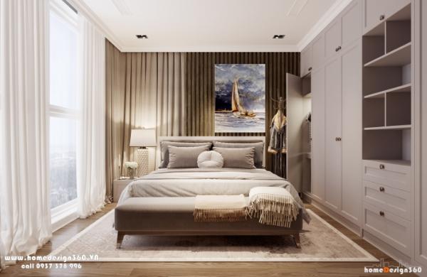 không gian phòng ngủ chung cư vinohomes