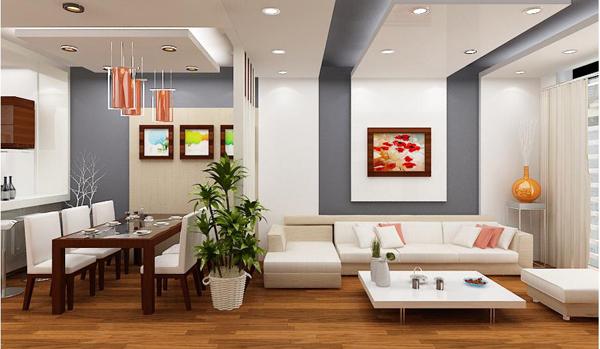 sử dụng vách ngăn trong thiết kế nội thất chung cư cao cấp