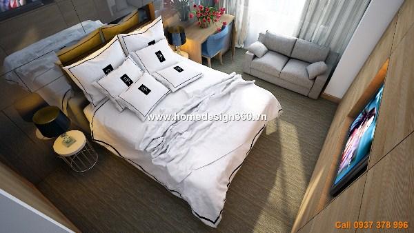 Thi công nội thất- phòng ngủ khách sạn 5 sao