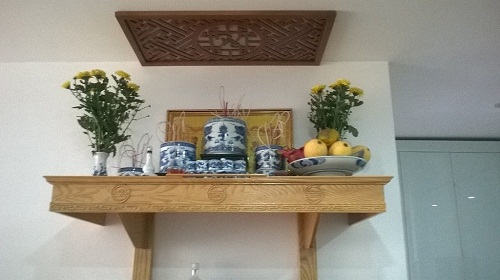 Thiết kế nội thất- bàn thờ ông táo