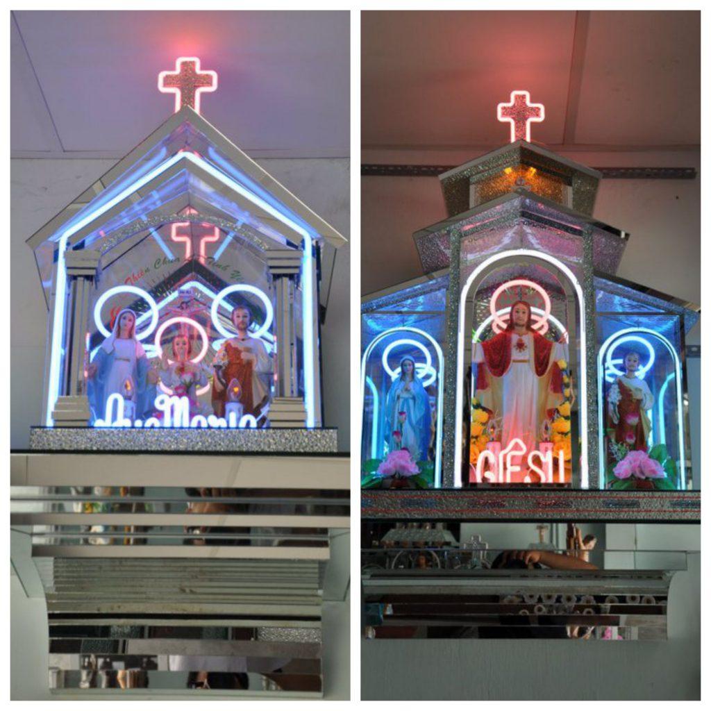 Thiết kế nội thất- bàn thờ nhôm kính đẹp nhất