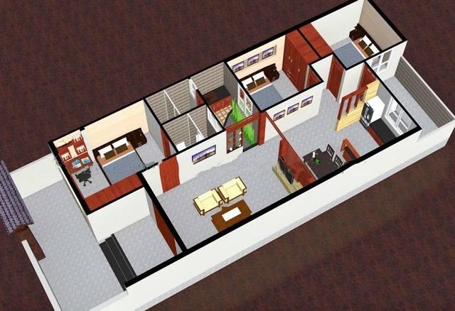 Thiết kế nội thất nhà 7m ngang