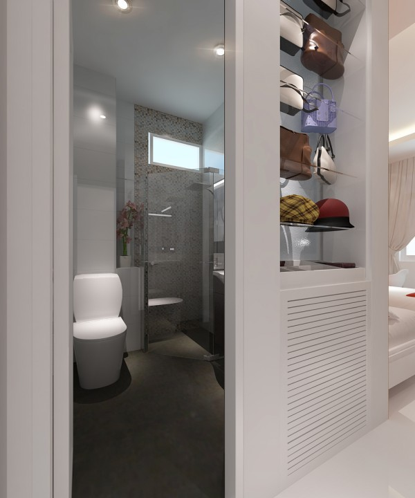 Thiết kế nội thát nhà tắm nhỏ