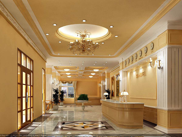 Thiết kế nội thất sảnh khách sạn