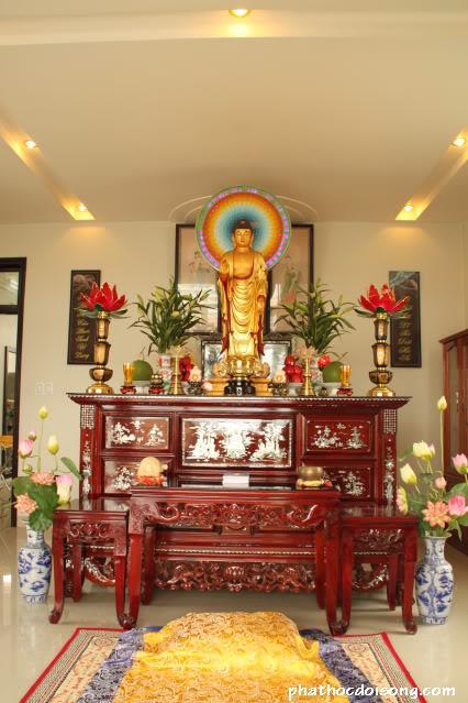 Thiết kế nội thất bàn thờ phật